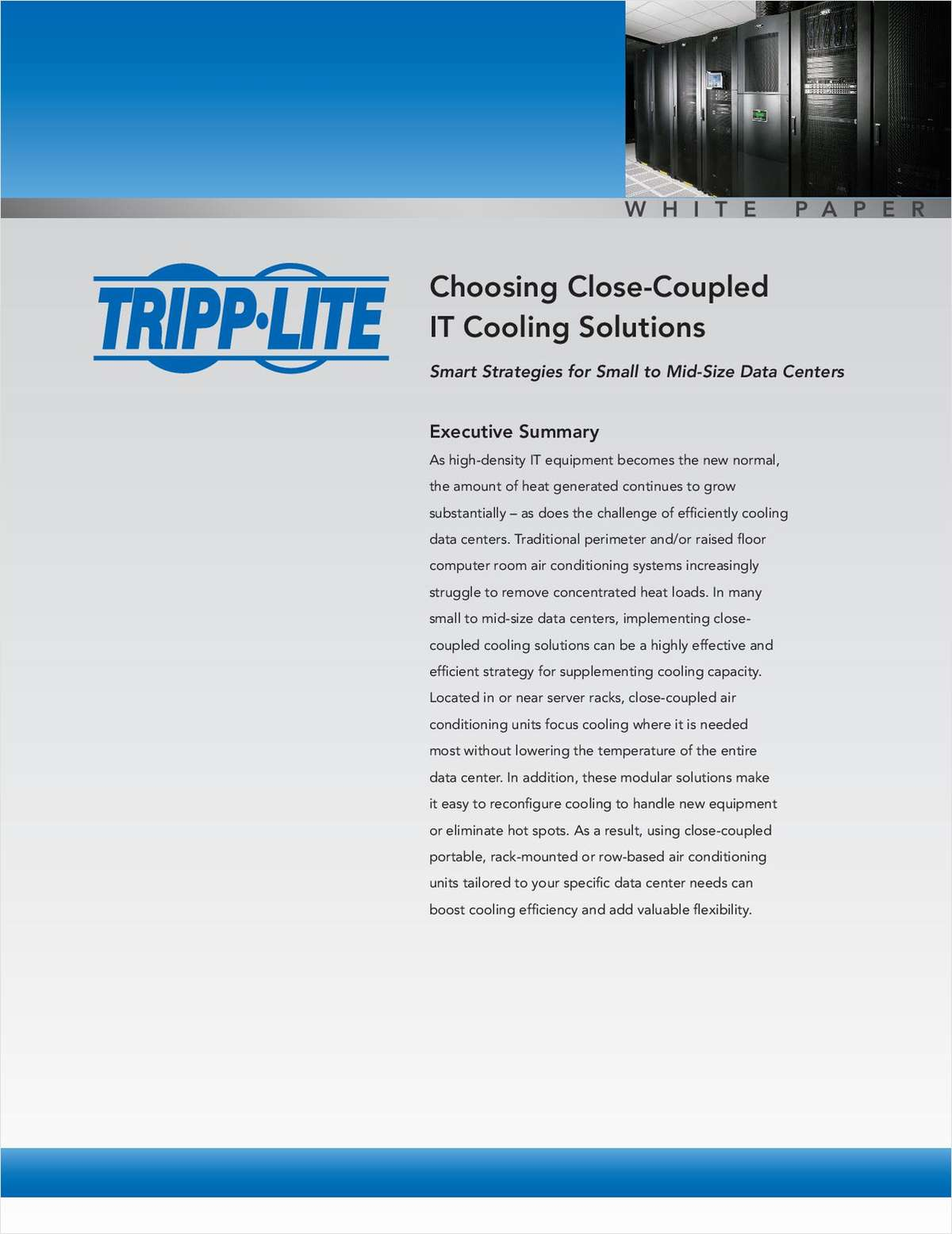 Choosing Close-Coupled IT Cooling Solutions