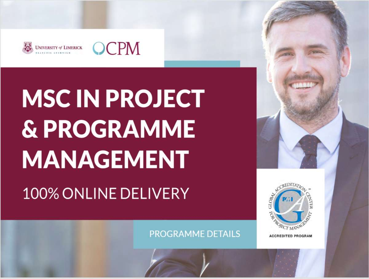 PMI-GAC Accredited Global Online Masters in Project and Program Management