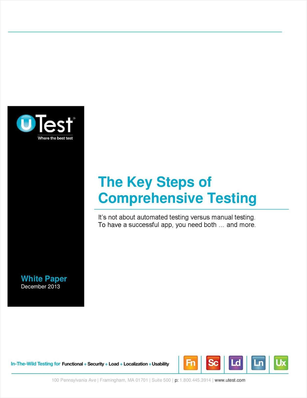 The Key Steps of Comprehensive Testing