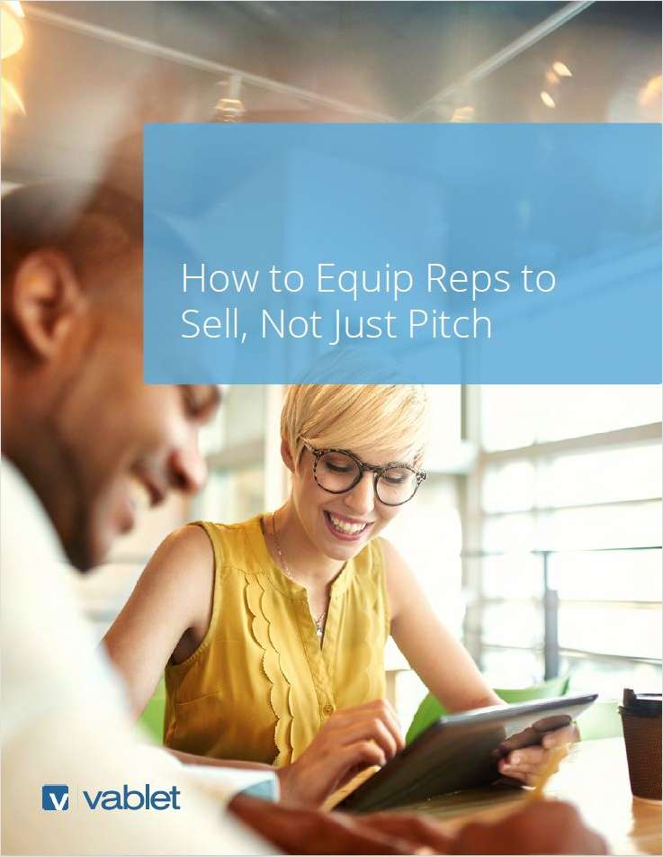 How to Equip Reps to Sell, Not Just Pitch