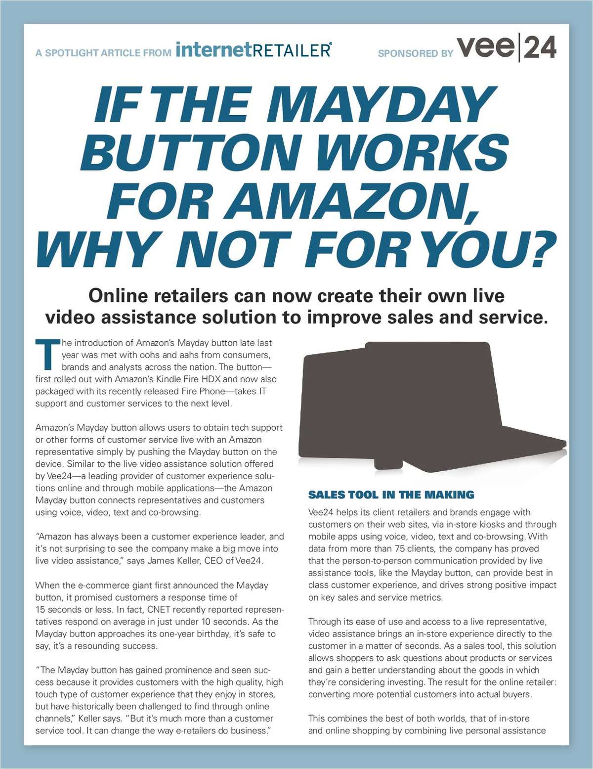 If the Mayday Button Works for Amazon, Why Not for You?