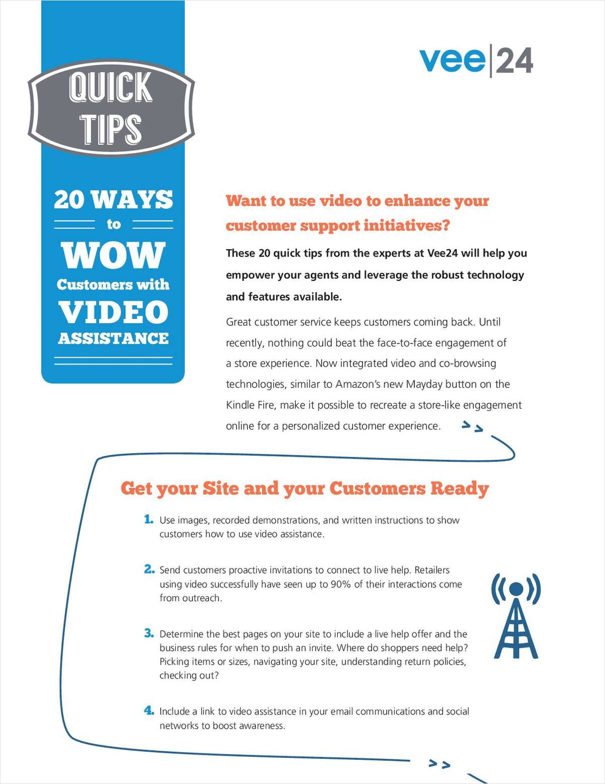 20 Ways to Wow Customers with Live Video Assistance