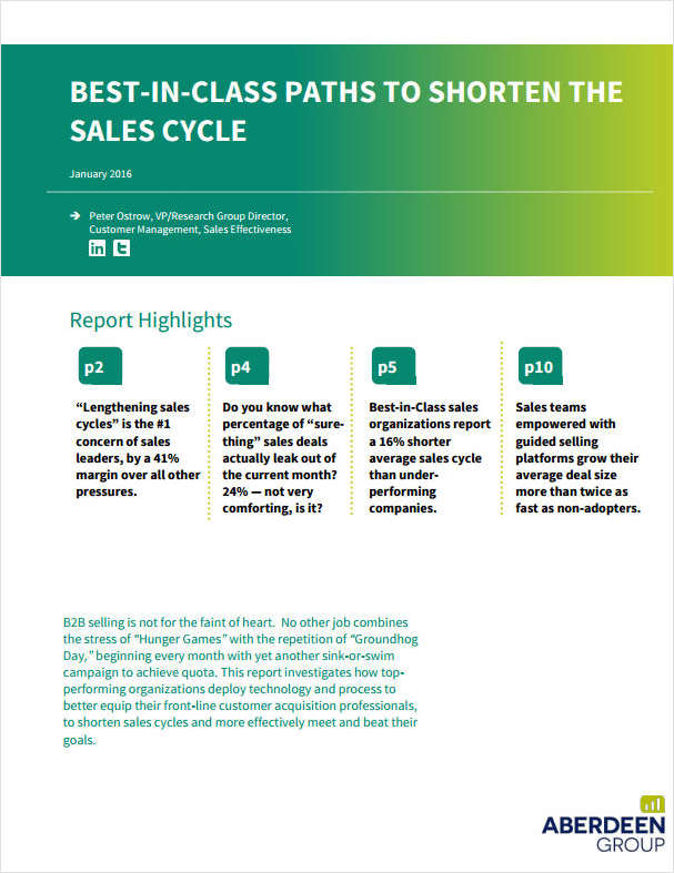 Best-in-Class Paths to Shorten the Sales Cycle