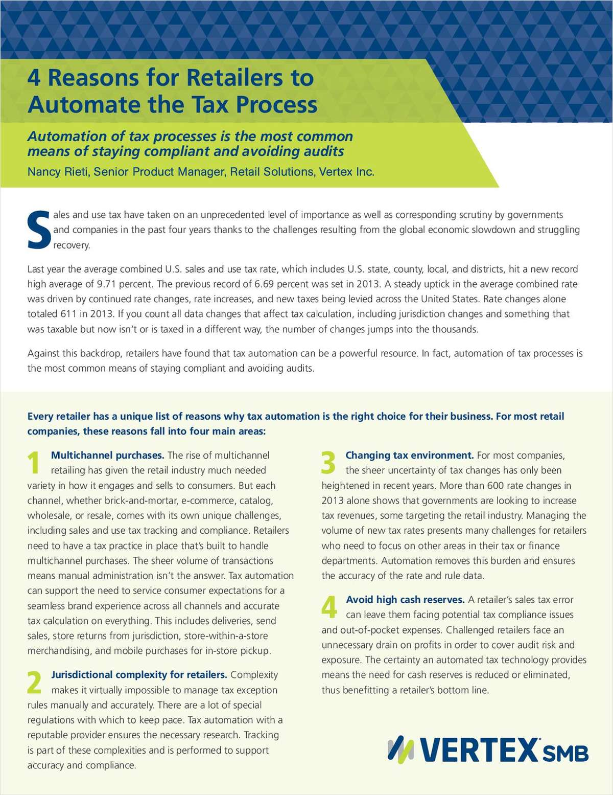 4 Reasons for Retailers to Automate the Tax Process