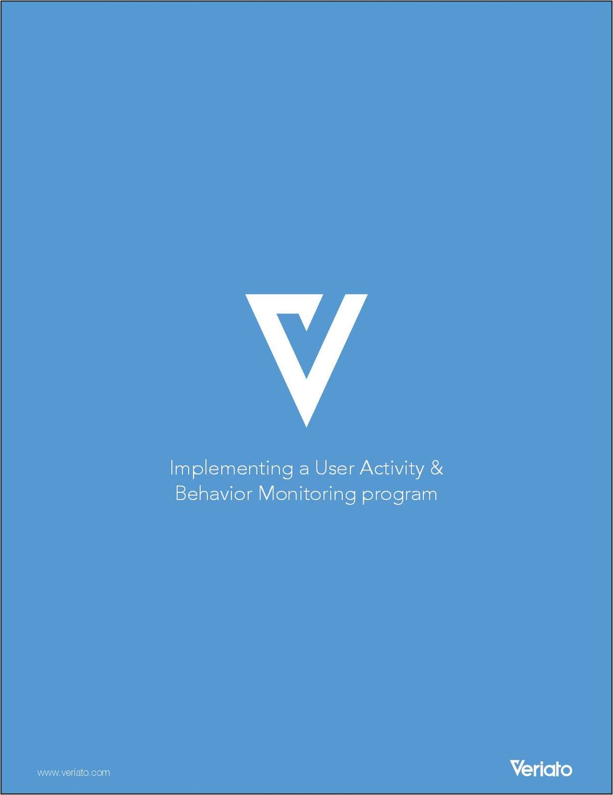 Implementing a User Activity and Behavior Monitoring Program