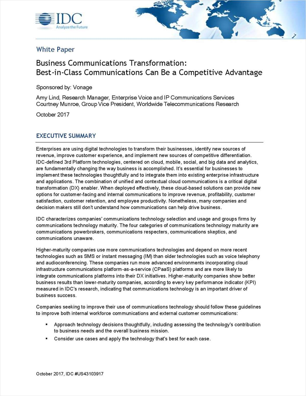 Business Communications Transformation