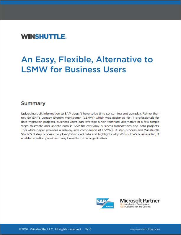 An Easy, Flexible Alternative to SAP's LSMW for Business Users