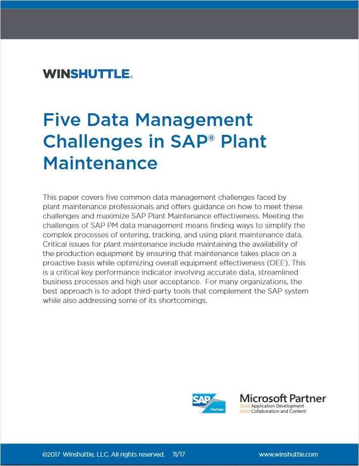 Five Data Management Challenges in SAP® Plant Maintenance