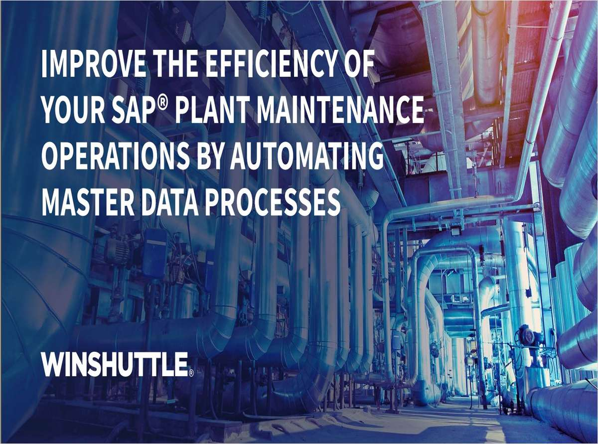 Improve the Efficiency of Your SAP Plant Maintenance Operations by Automating Master Data Processes
