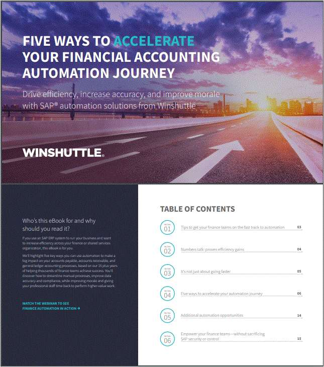 Five Ways To Accelerate Your Financial Accounting Automation