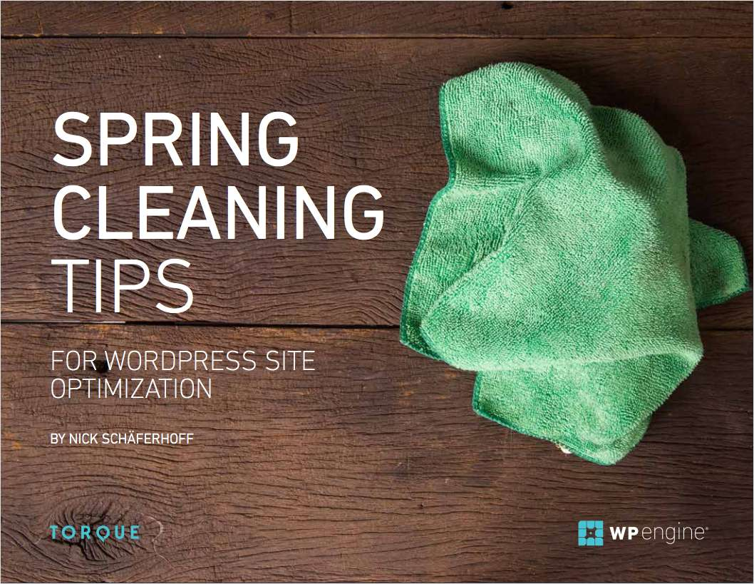 Spring Cleaning - For WordPress Site Optimization