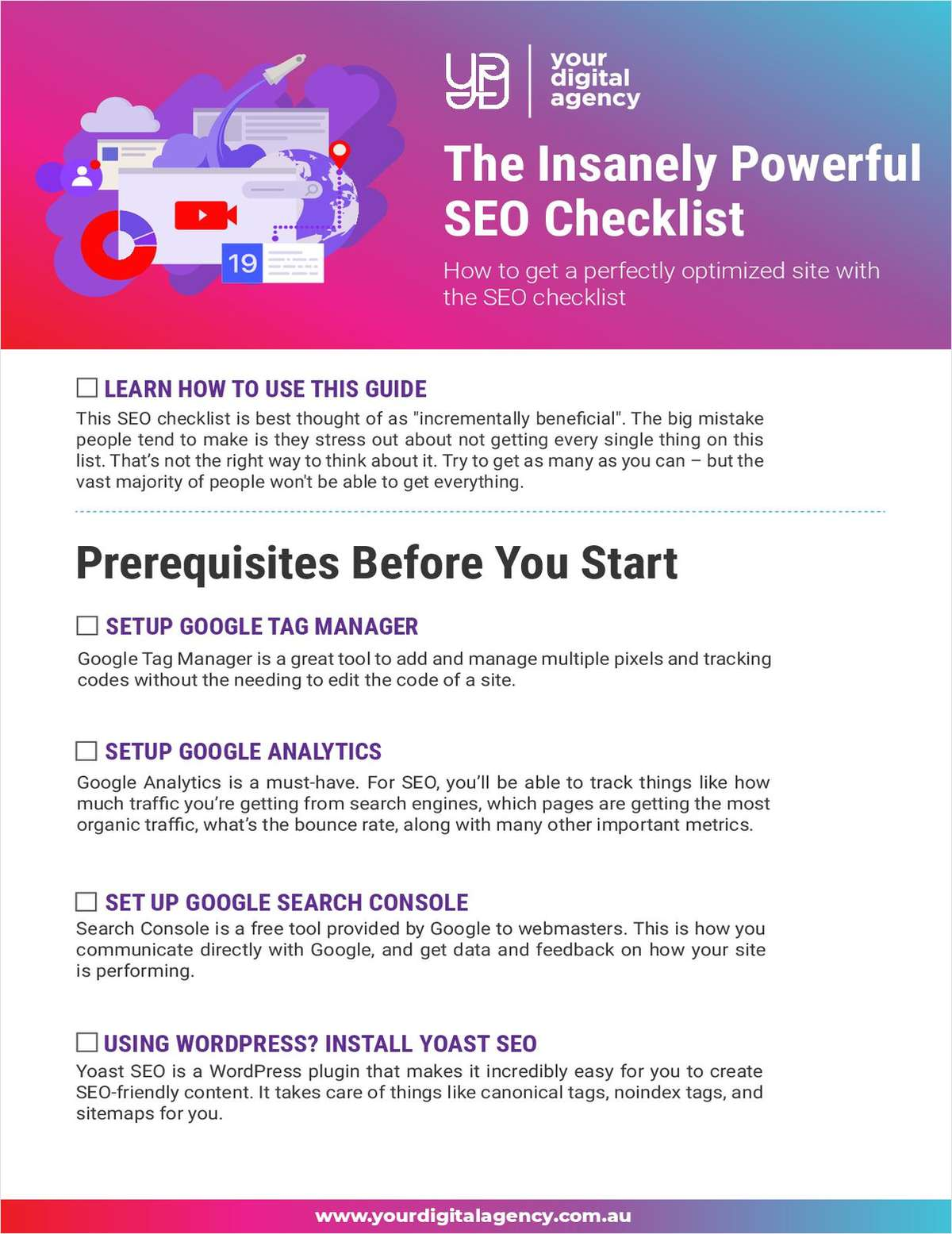 The Insanely Powerful SEO Checklist