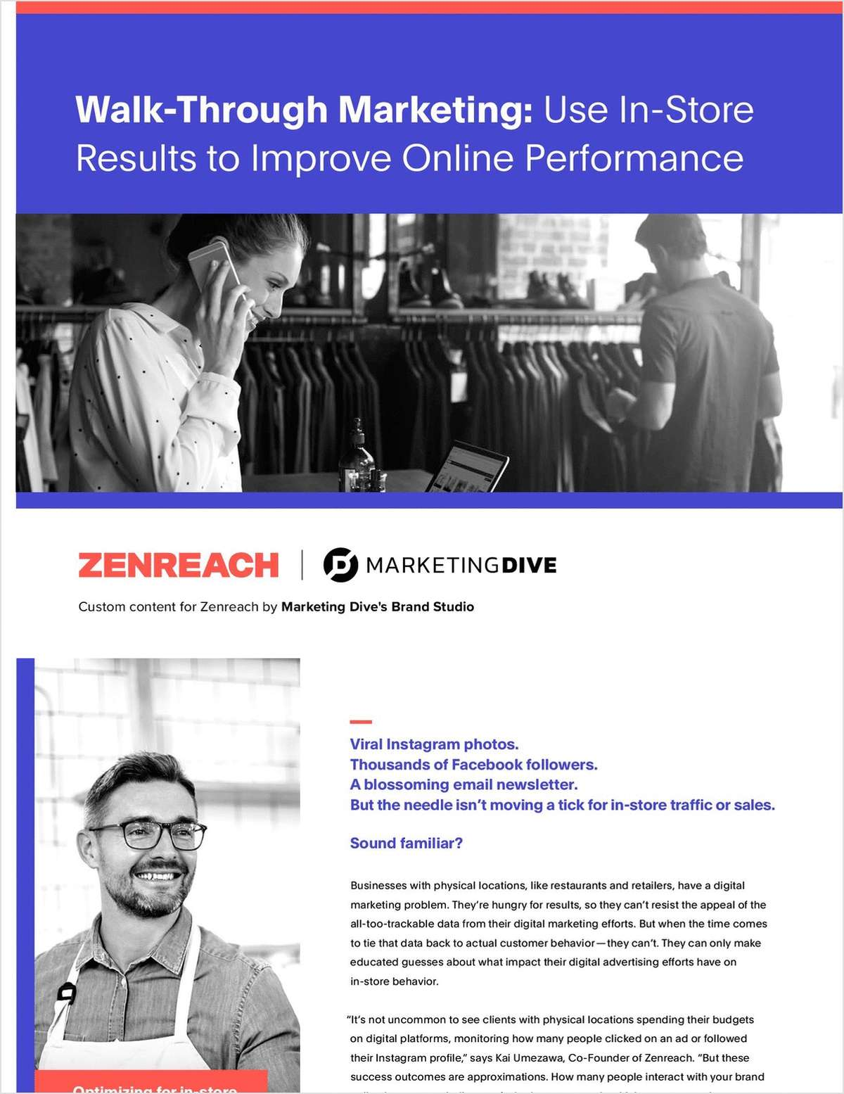 Walk-Through Marketing: Use In-Store Results to Improve Online Performance