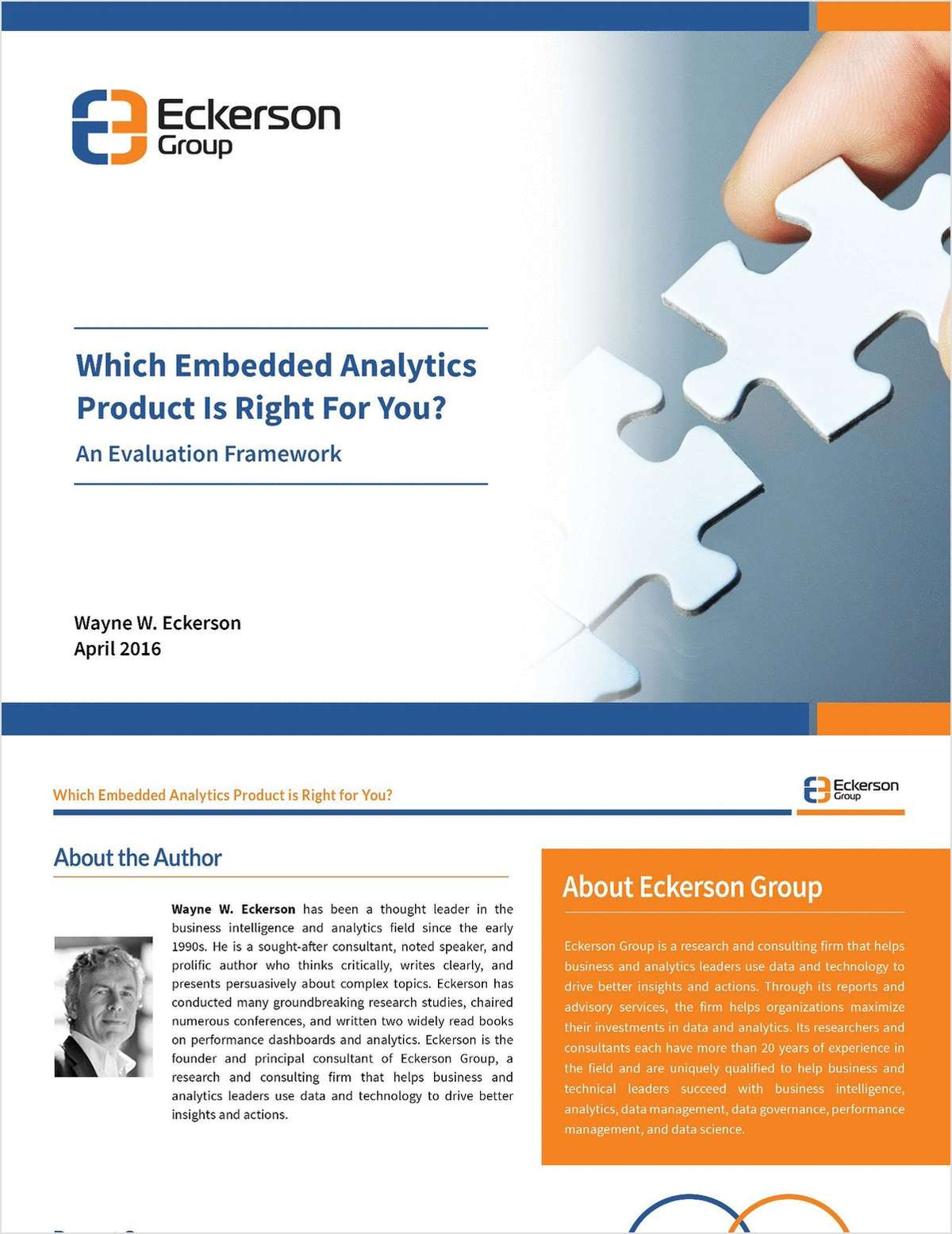 Eckerson Group Which Embedded Analytics Tool is Right For You