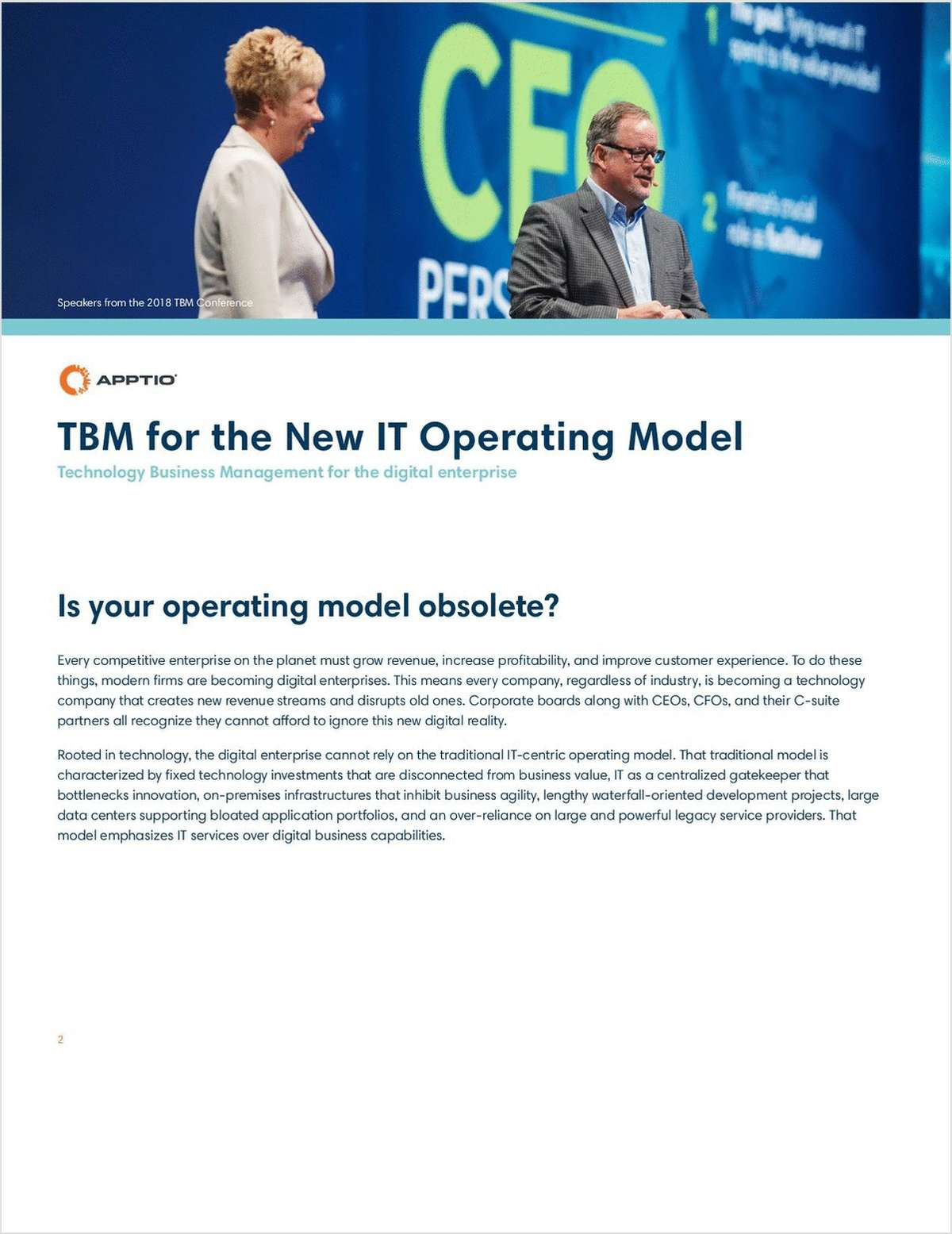 TBM for the New IT Operating Model