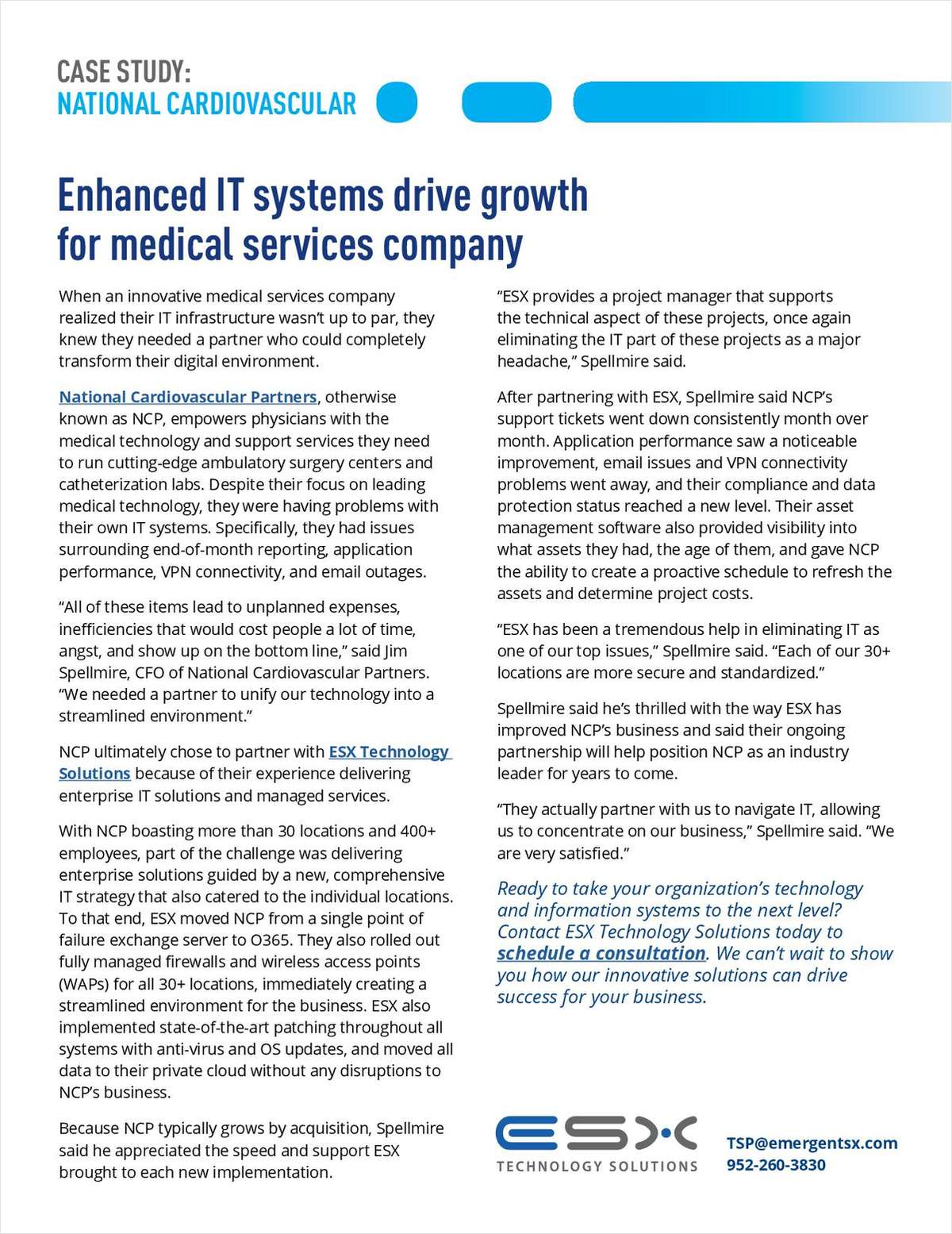 Enhanced IT Systems Drive Growth for Medical Services Company