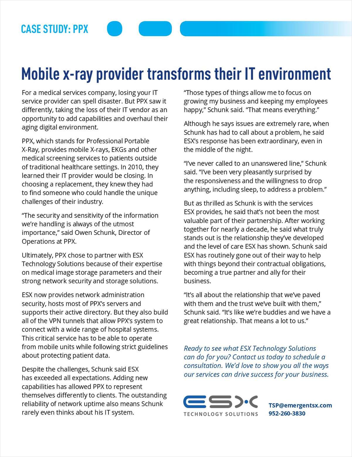 Mobile X-Ray Provider Transforms Their IT Environment