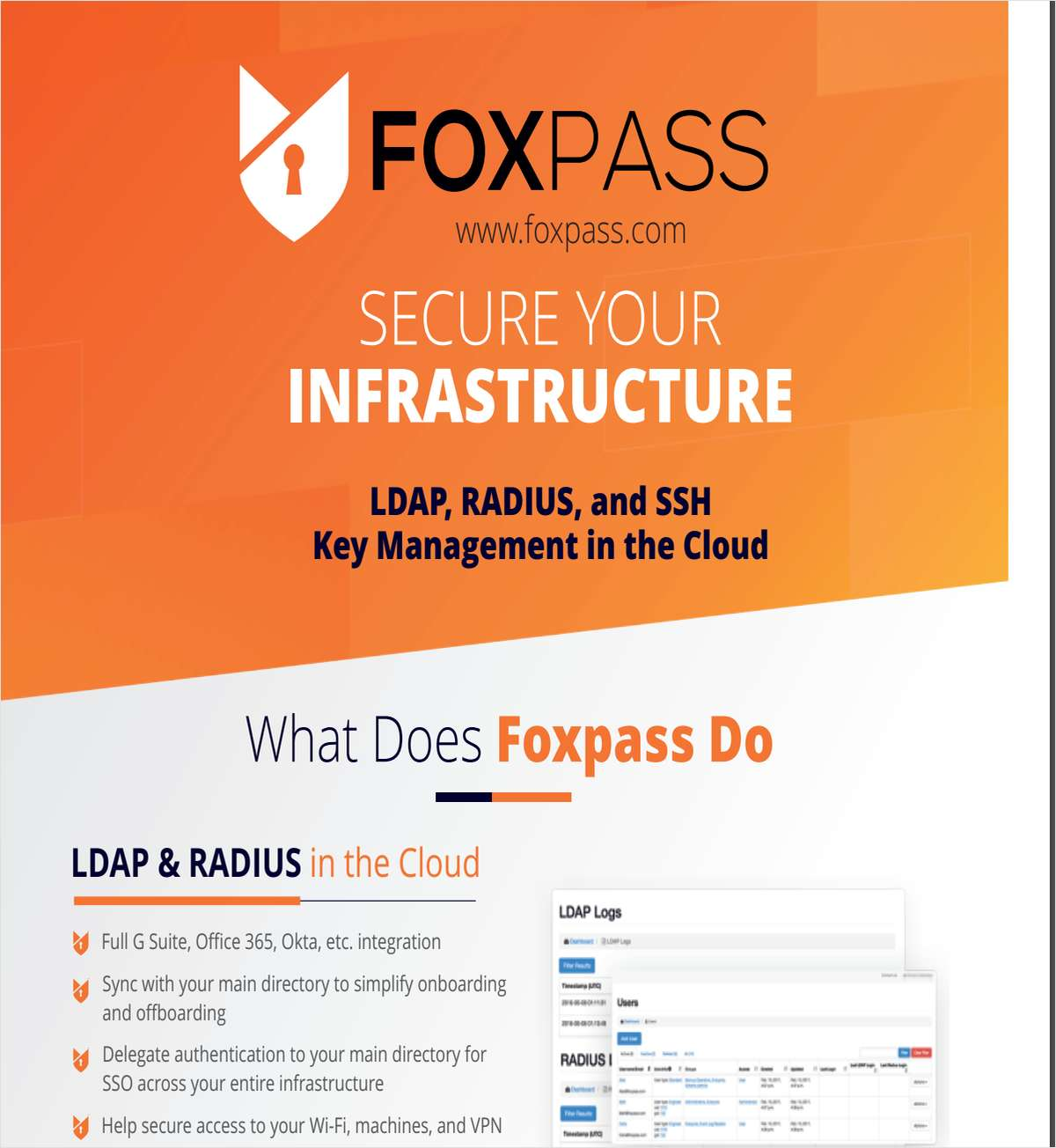 Brochure: LDAP with SSH Key Management & RADIUS Servers in the Cloud
