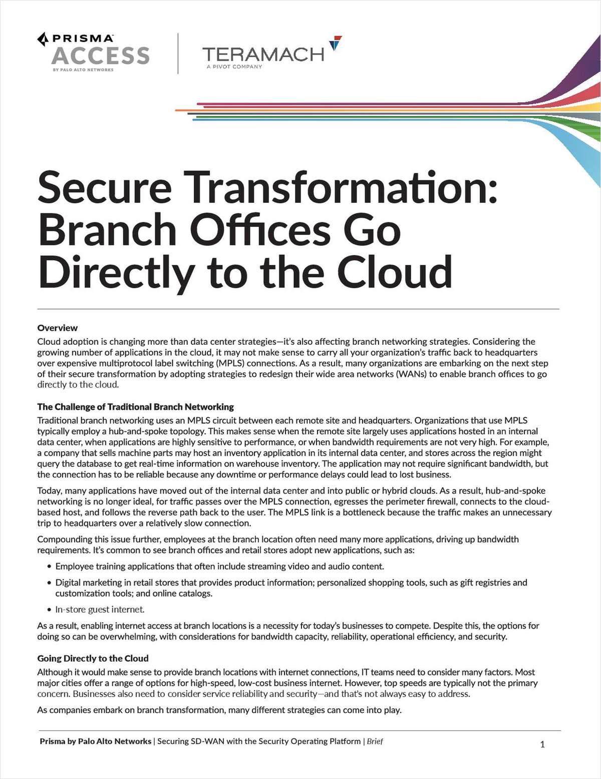 Secure Transformation: Branch Offices Go Directly to the Cloud