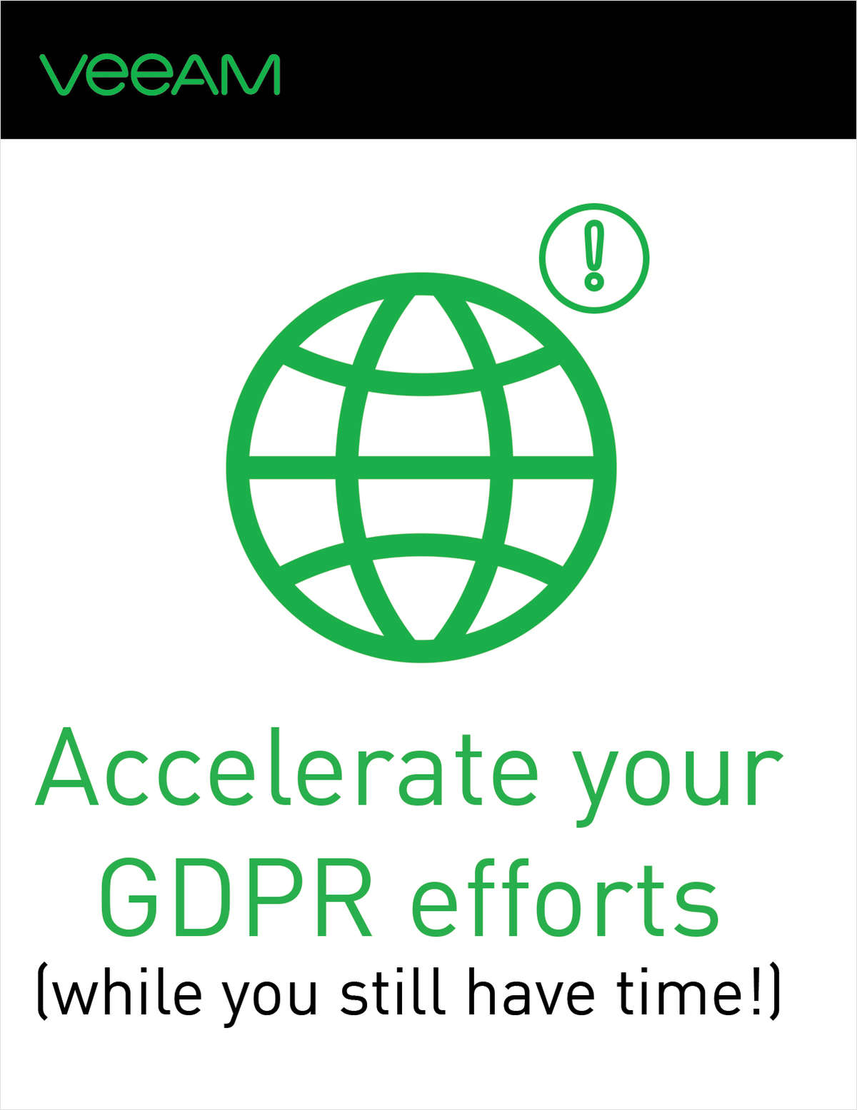 Accelerate your GDPR efforts (while you still have time!)