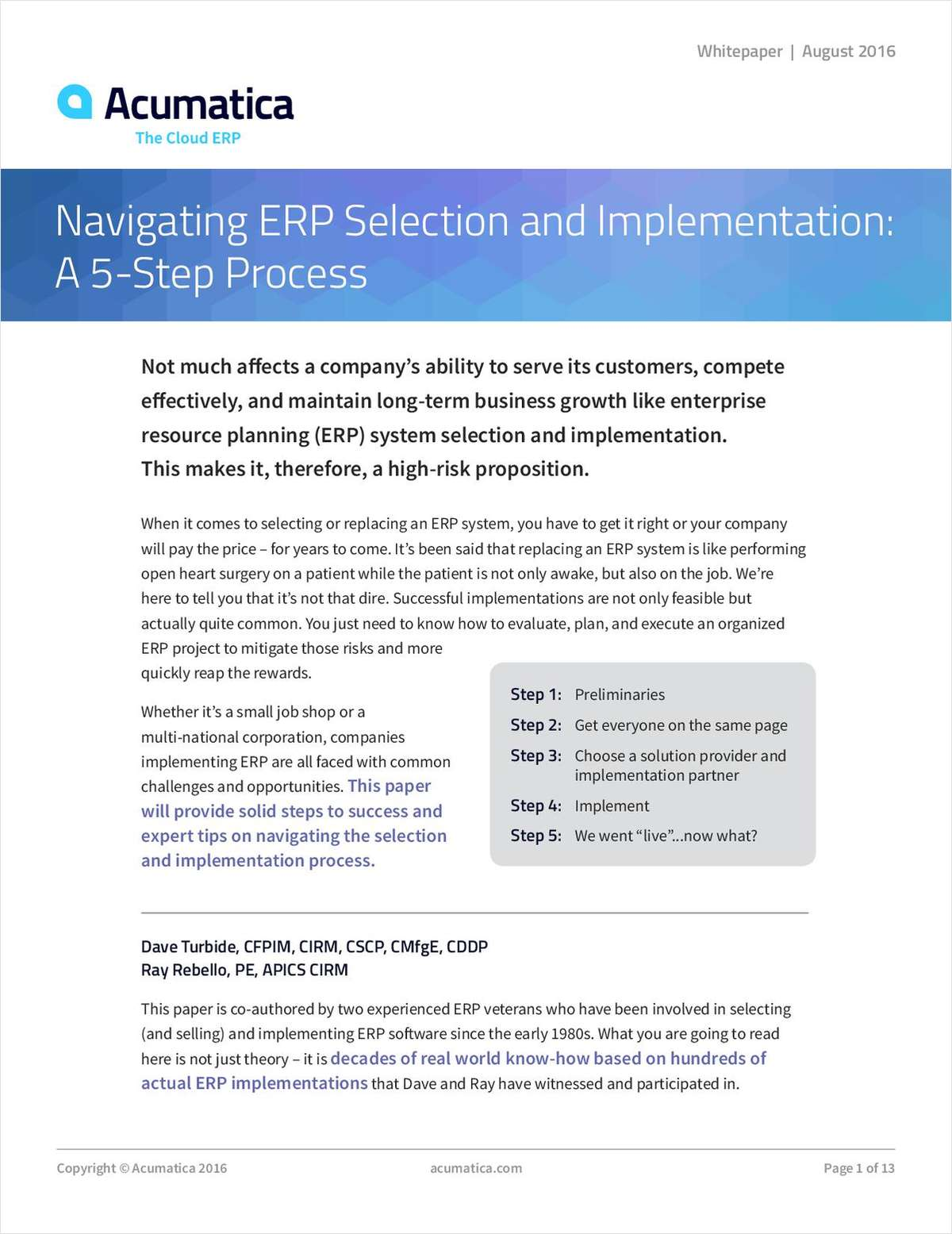 Navigating ERP Selection and Implementation