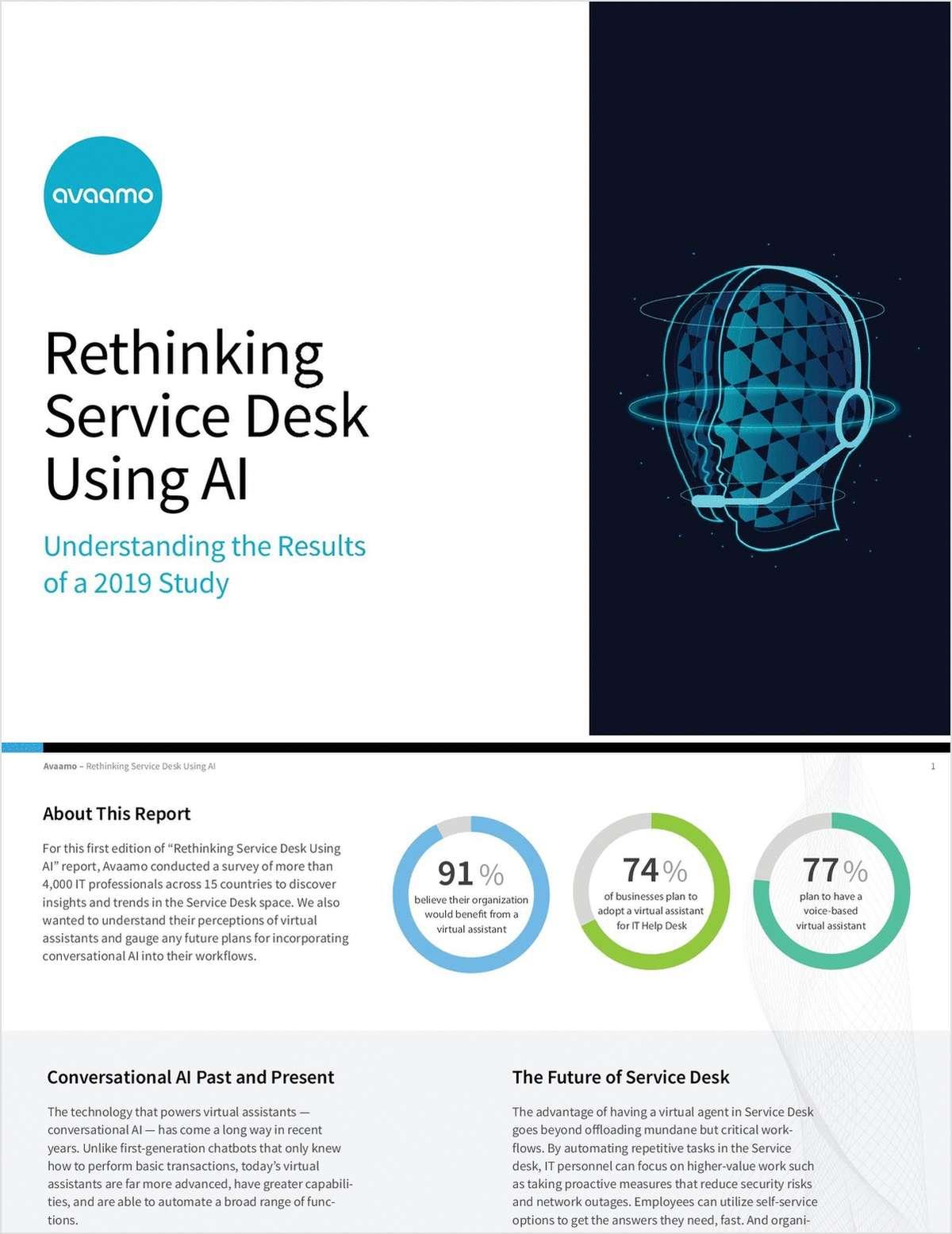 Rethinking Service Desk using AI