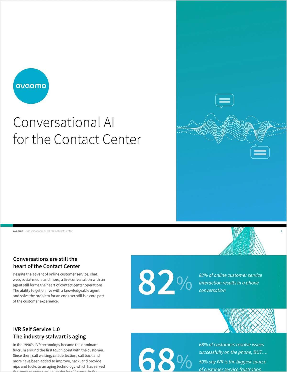 Conversational AI for the Contact Center