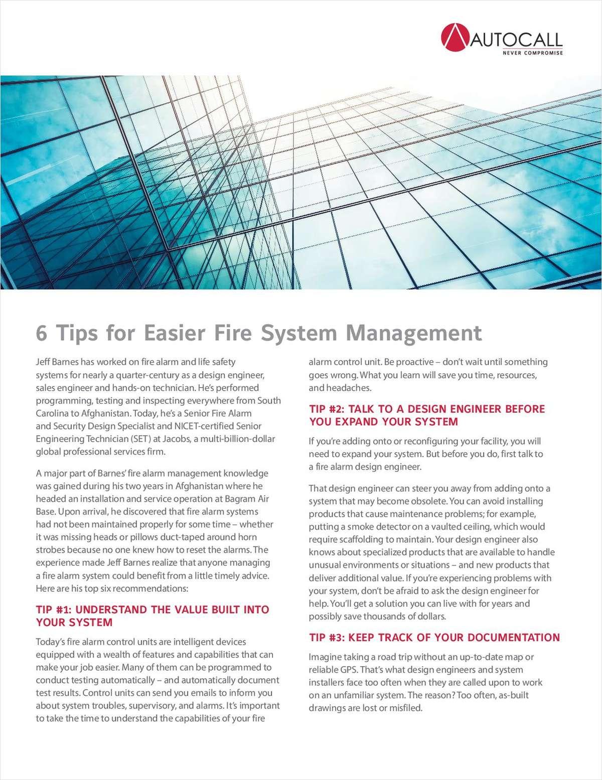 6 Tips for Easier Fire System Management