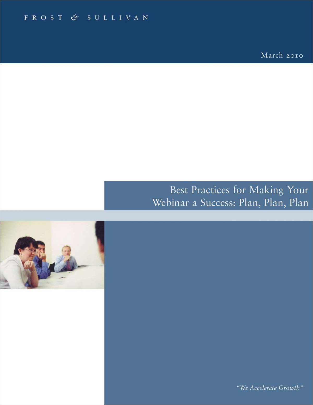 Best Practices for Making Your Webinar a Success - Plan, Plan, Plan