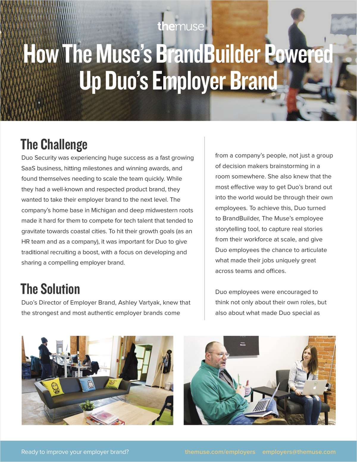 How BrandBuilder by The Muse Powered Up Duo's Employer Brand