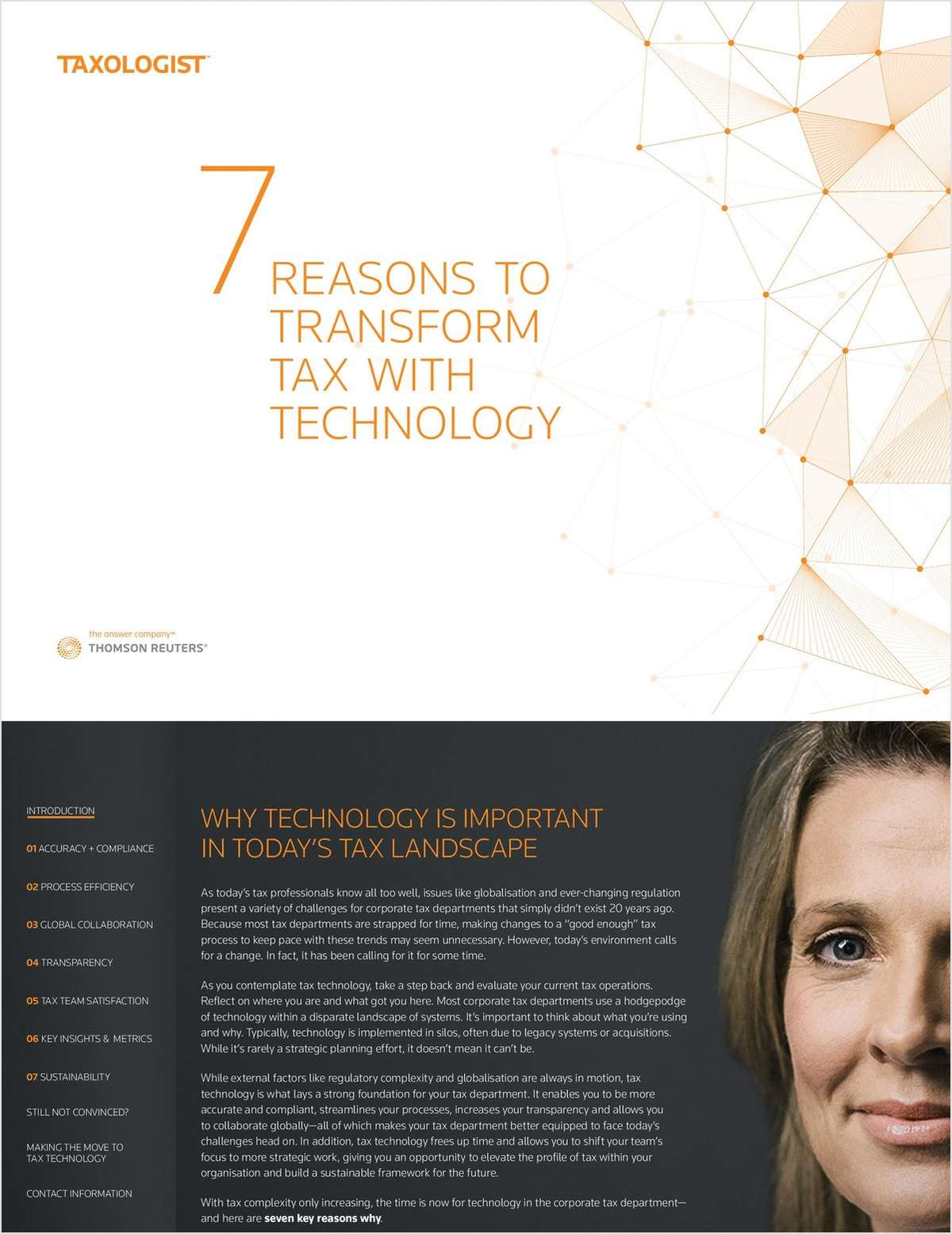7 REASONS TO TRANSFORM TAX WITH TECHNOLOGY