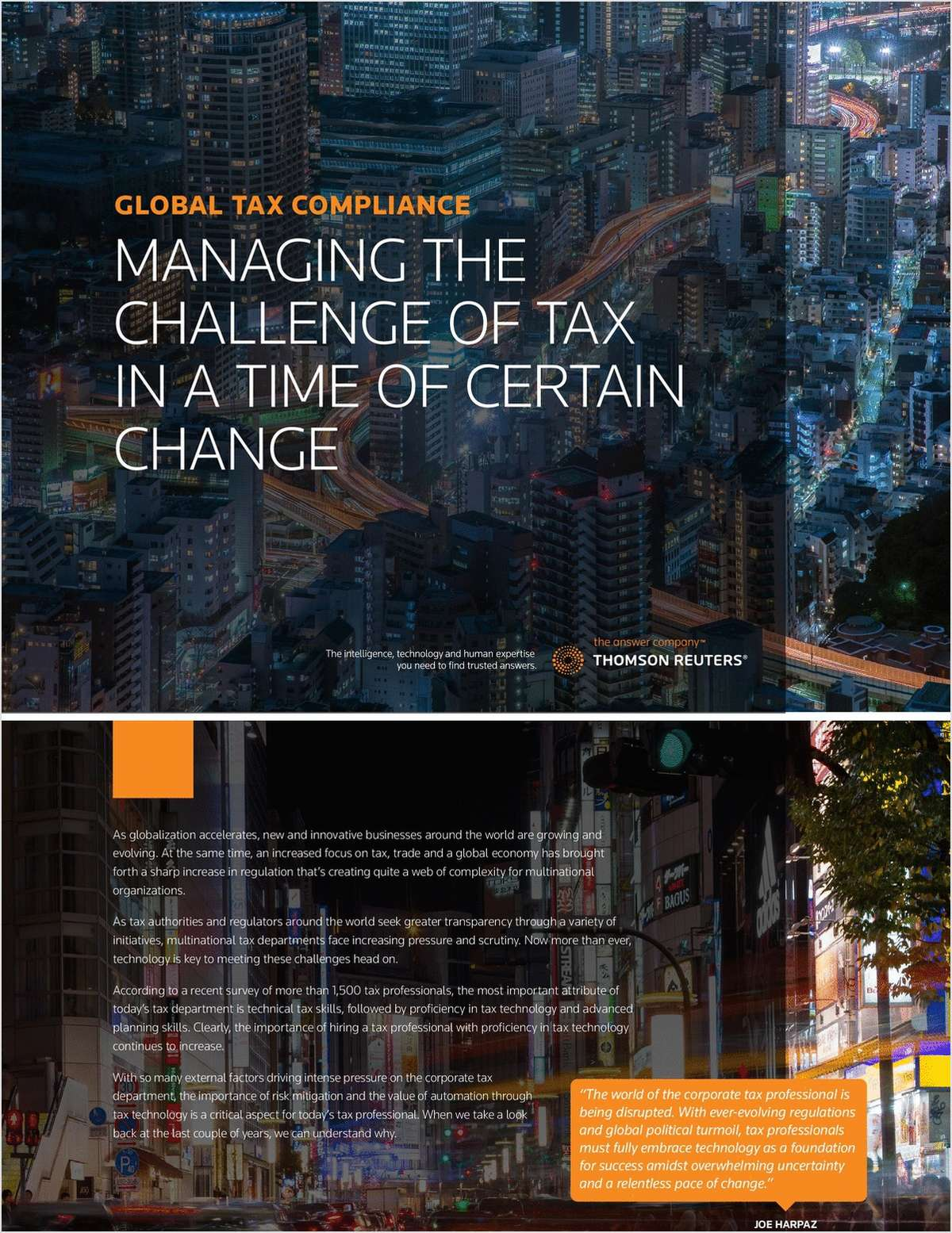 Managing the challenge of tax in a time of certain change
