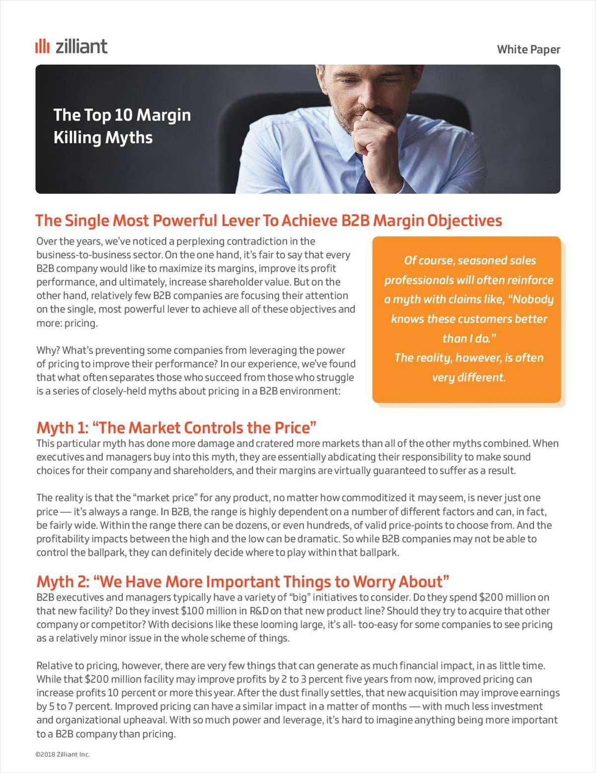The Top 10 Margin-Killing Myths In B2B