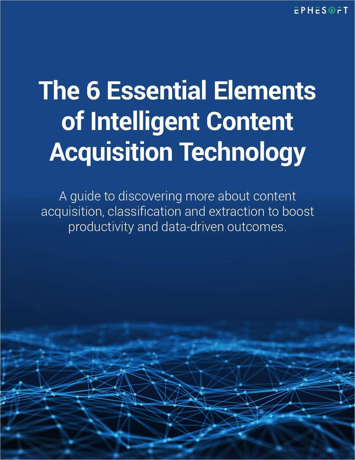 Six Elements of Content Acquisition Technology