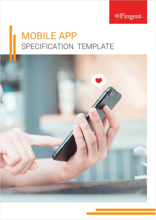 Mobile App Specification Template