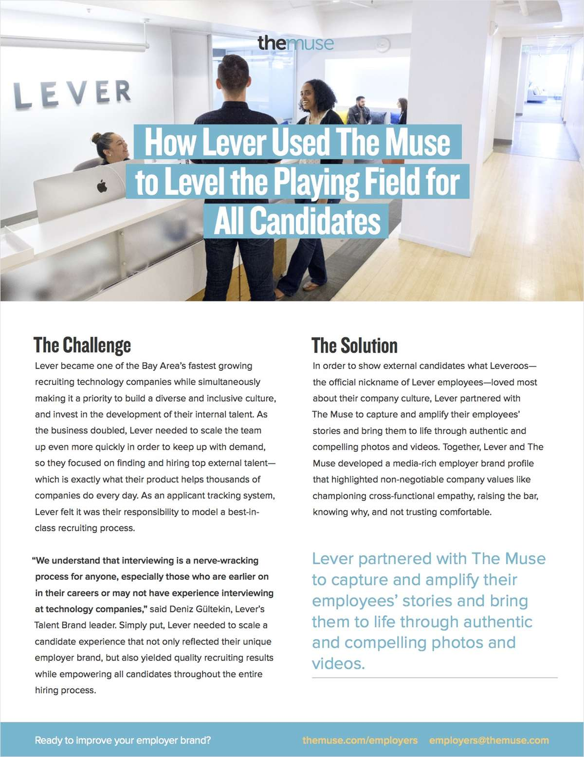 How Lever Improved Their Candidate Experience With The Muse