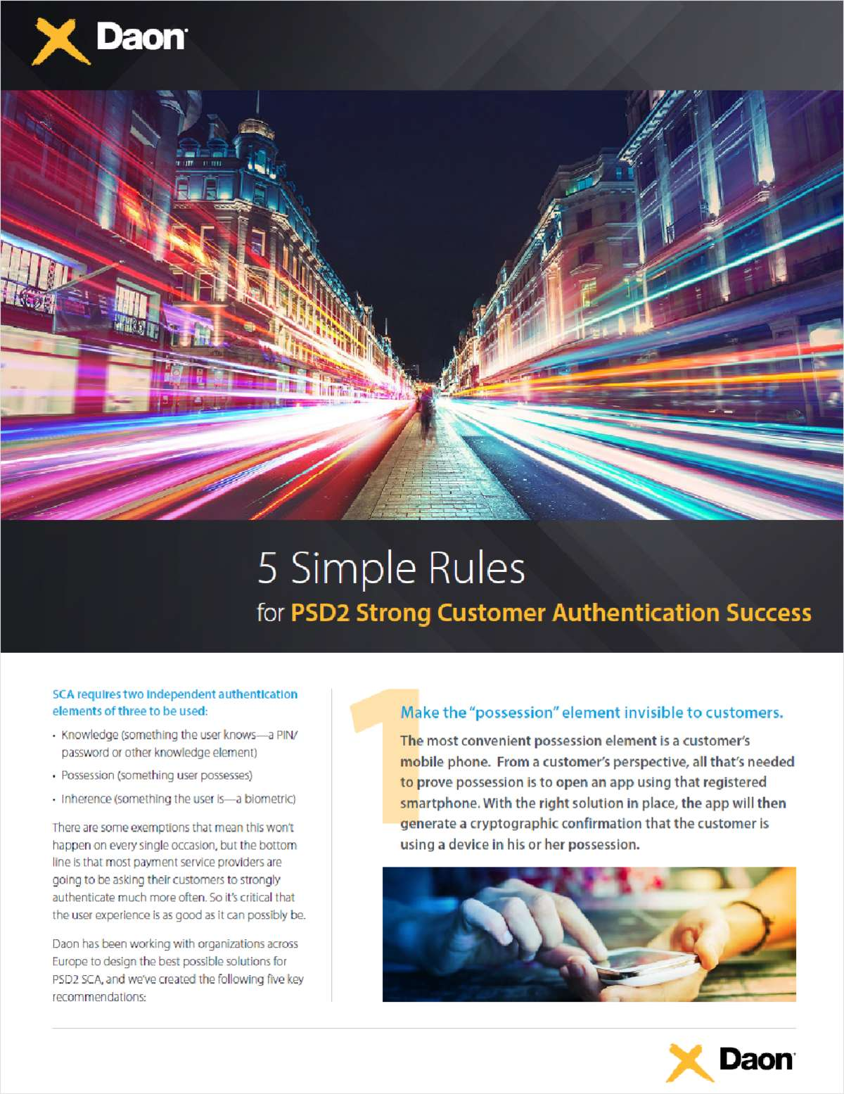 5 Simple Rules for PSD2 Strong Customer Authentication Success