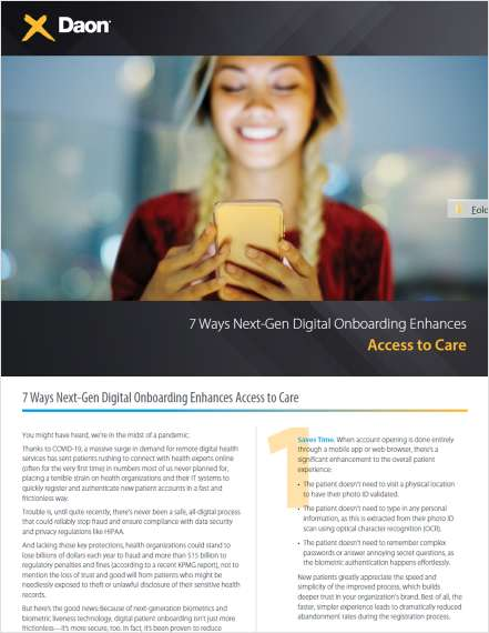 7 Ways Next-Gen Digital Onboarding Enhances Access to Care