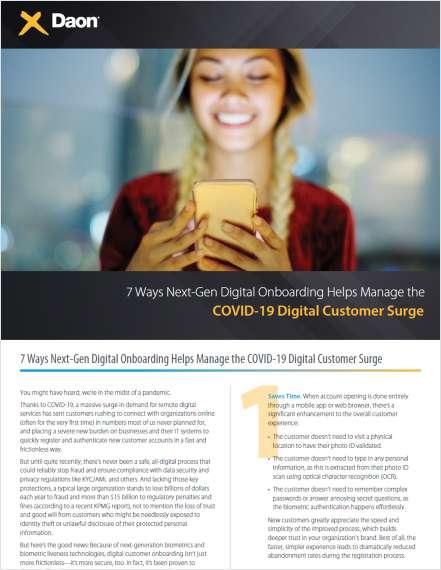 7 Ways Next-Gen Digital Onboarding Helps Manage the COVID-19 Digital Customer Surge