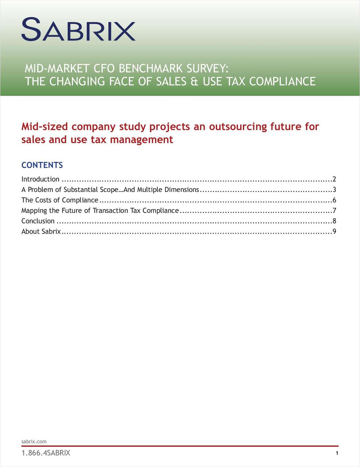 Managing Tax Compliance: A Mid-Market CFO Benchmark Study