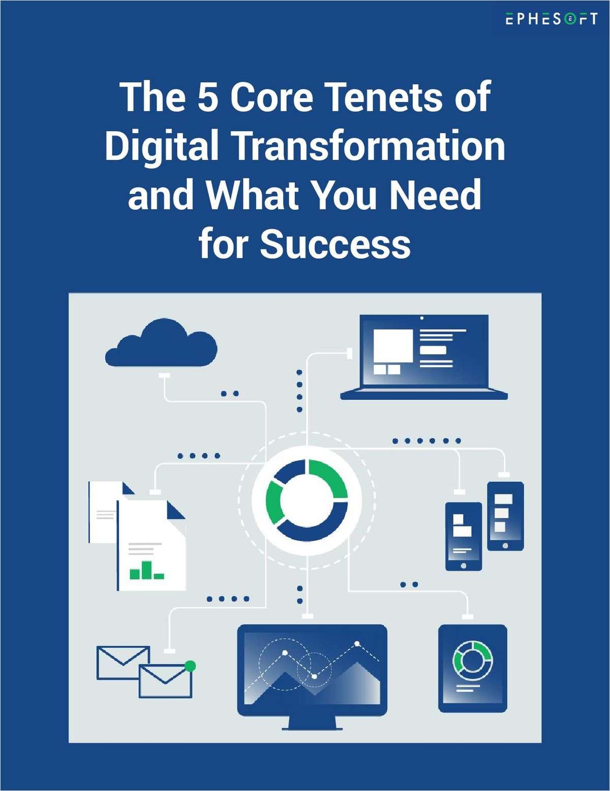 5 Core Tenets of Digital Transformation