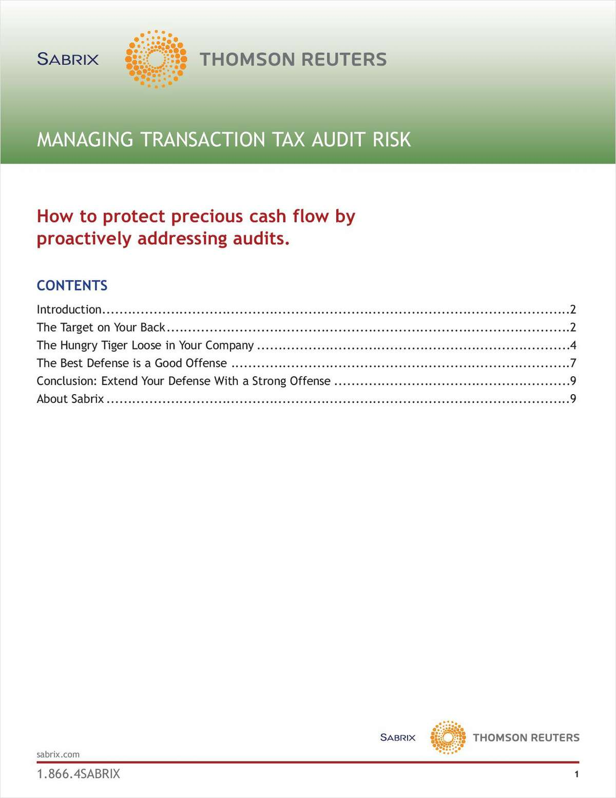 Managing Transaction Tax Audit Risk