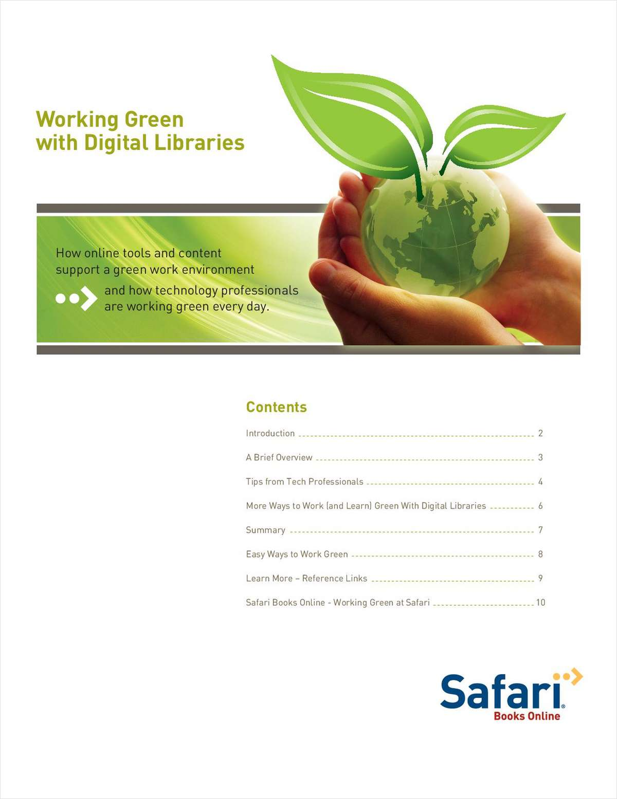 Working Green with Digital Libraries