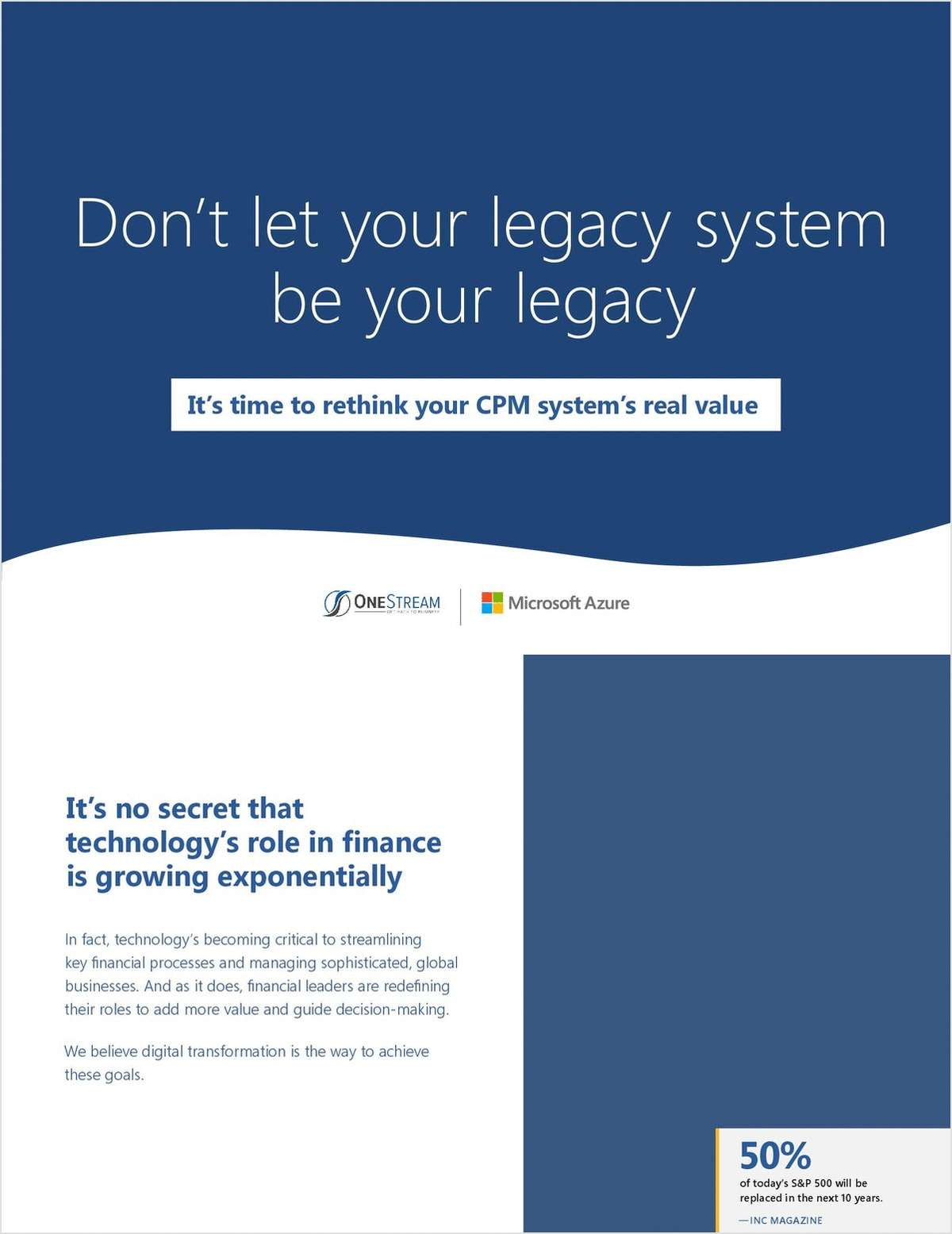 Don't Let Your Legacy System Be Your Legacy