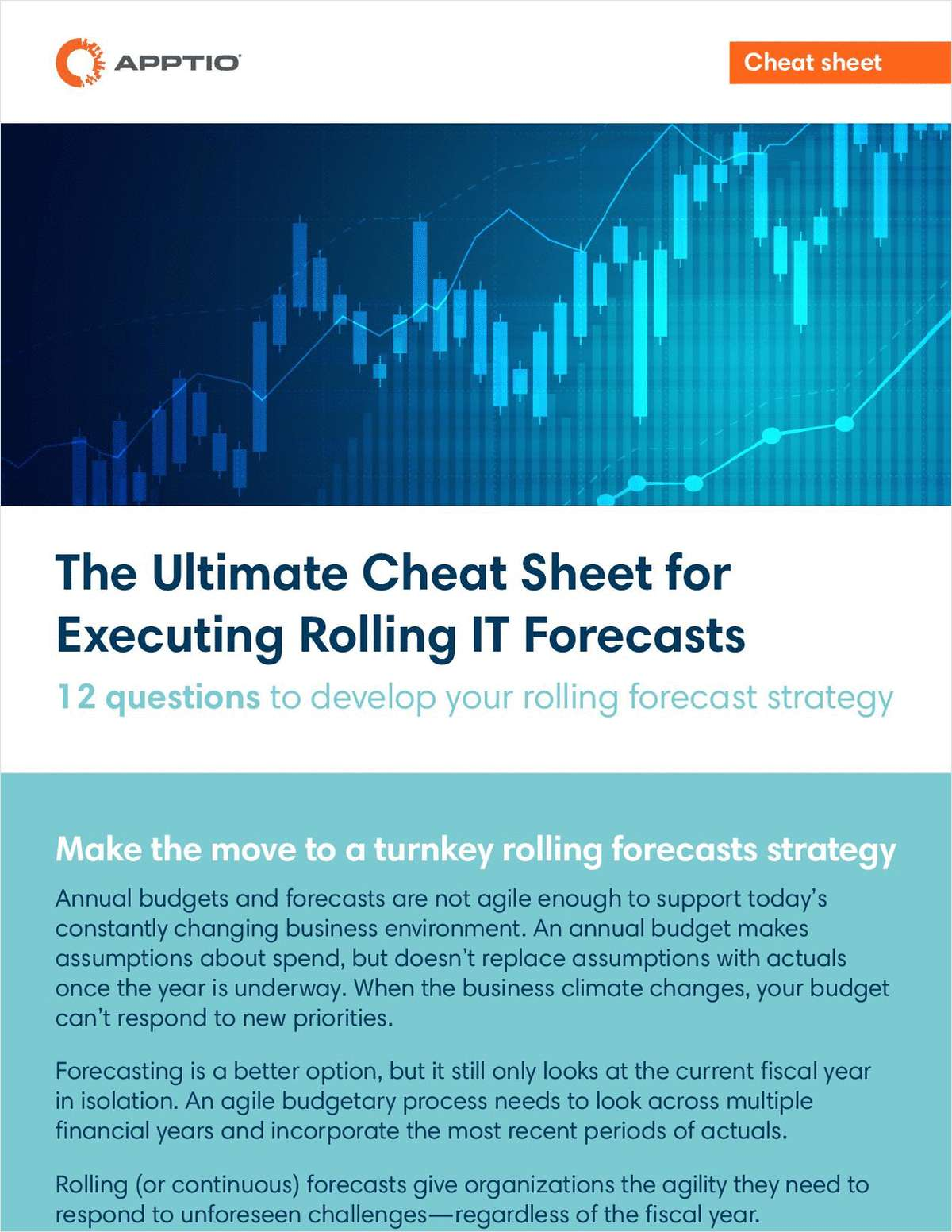 The ultimate cheatsheet for executing rolling IT Forecasts