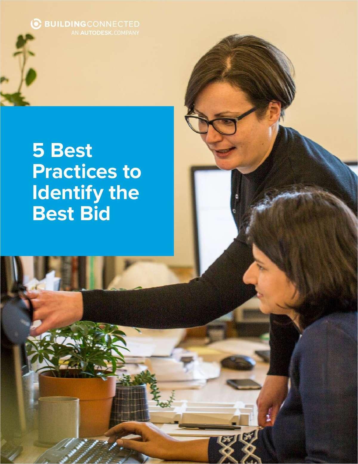 5 Best Practices to Identify the Best Bid