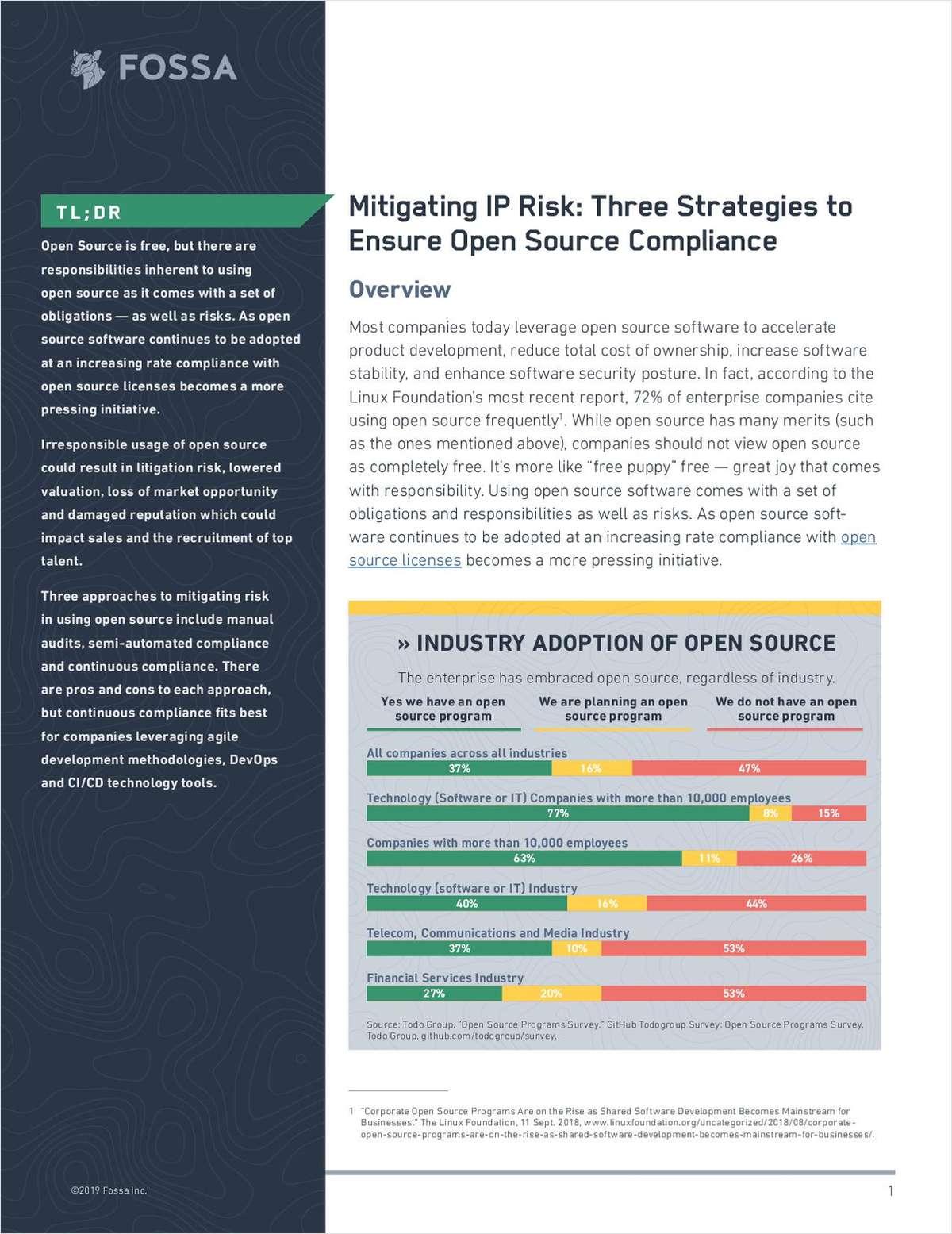 Mitigating IP Risk in Open Source