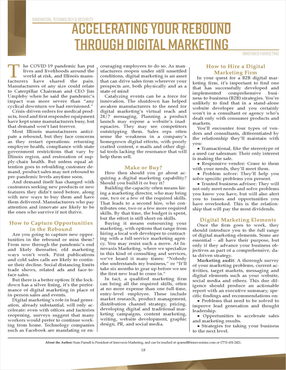 Manufacturers: Accelerate Your Rebound with Digital Marketing