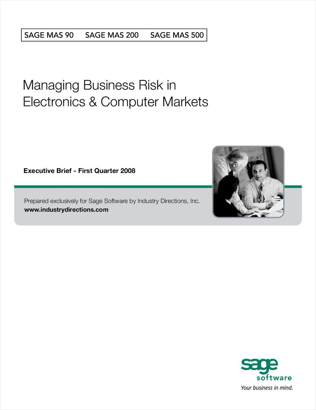 Managing Business Risk in Electronics and Computer Markets