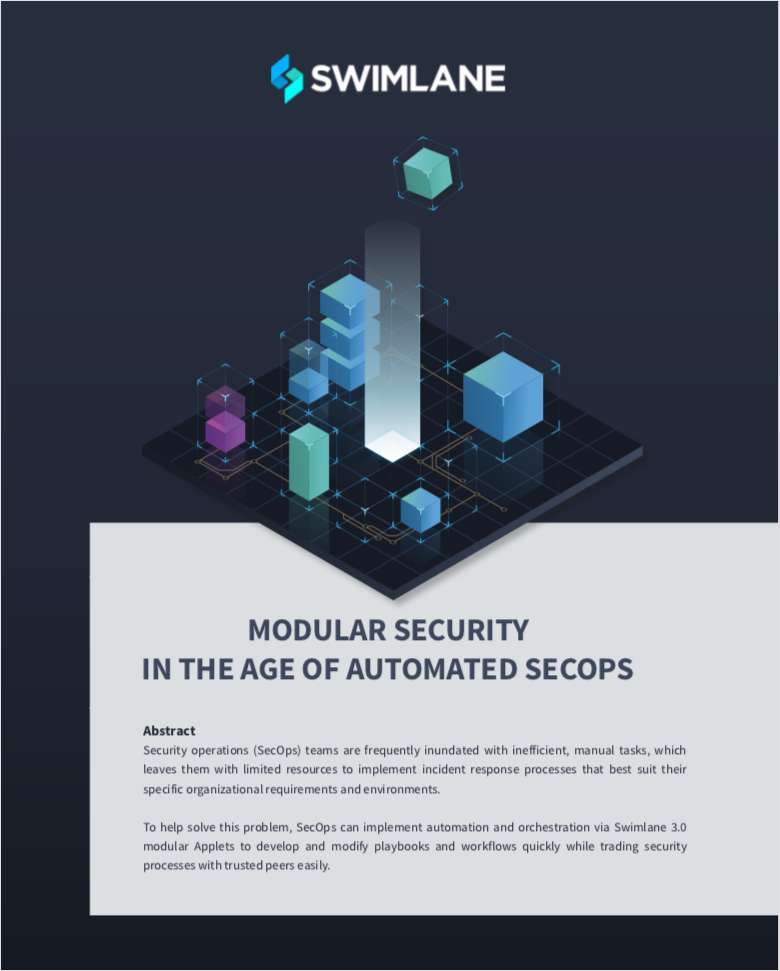Modular security in the age of automated secOps